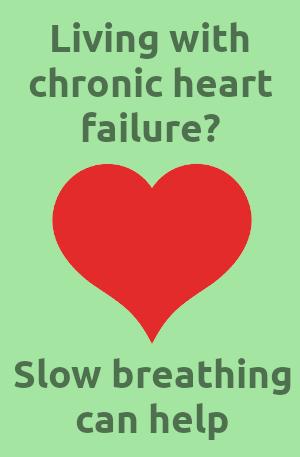 slow breathing for chronic heart failure